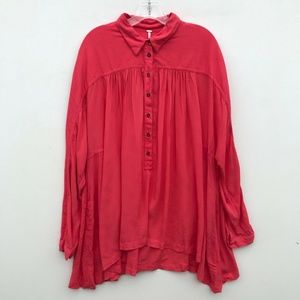 Free People Lovely Day Shirt Popover #871